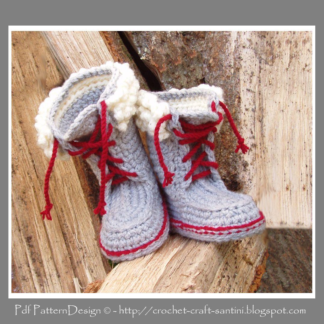UGG Slipper Pattern Crochet | Crochet & Craft: WARM SLIPPER-BOOTS ...