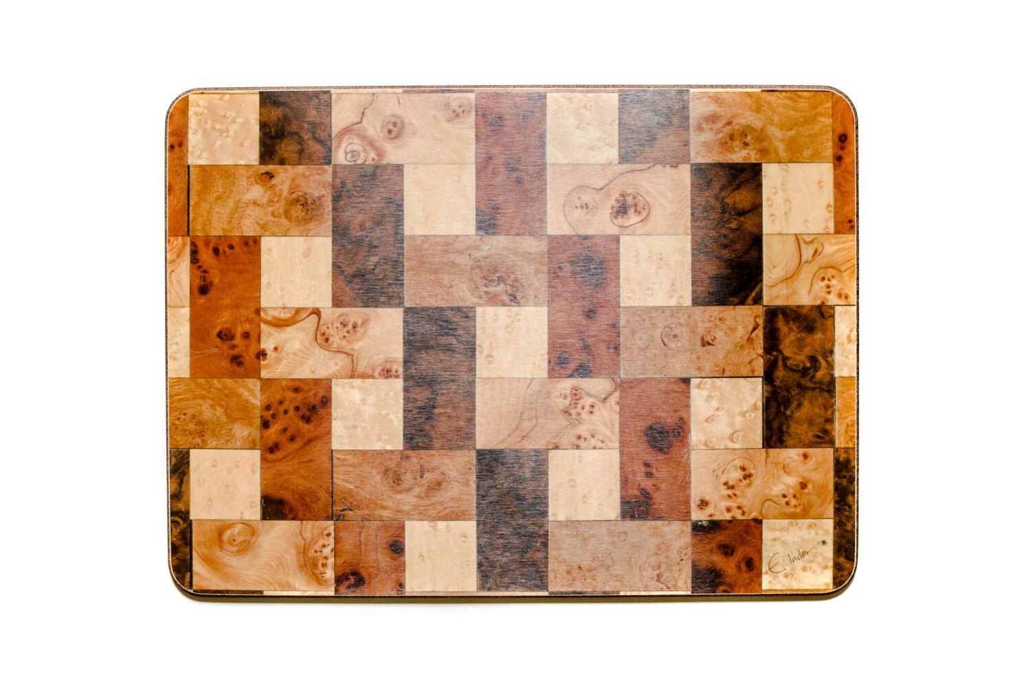 4 Brown Place mats. Ready to Ship. Rectangle Quality Luxe