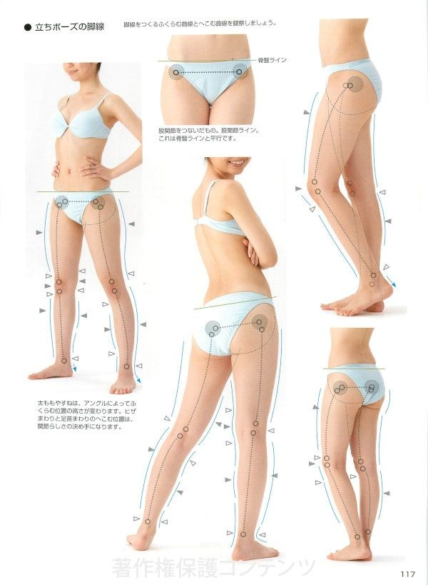 Character pose collection girls\' body of the body | inside of the ...