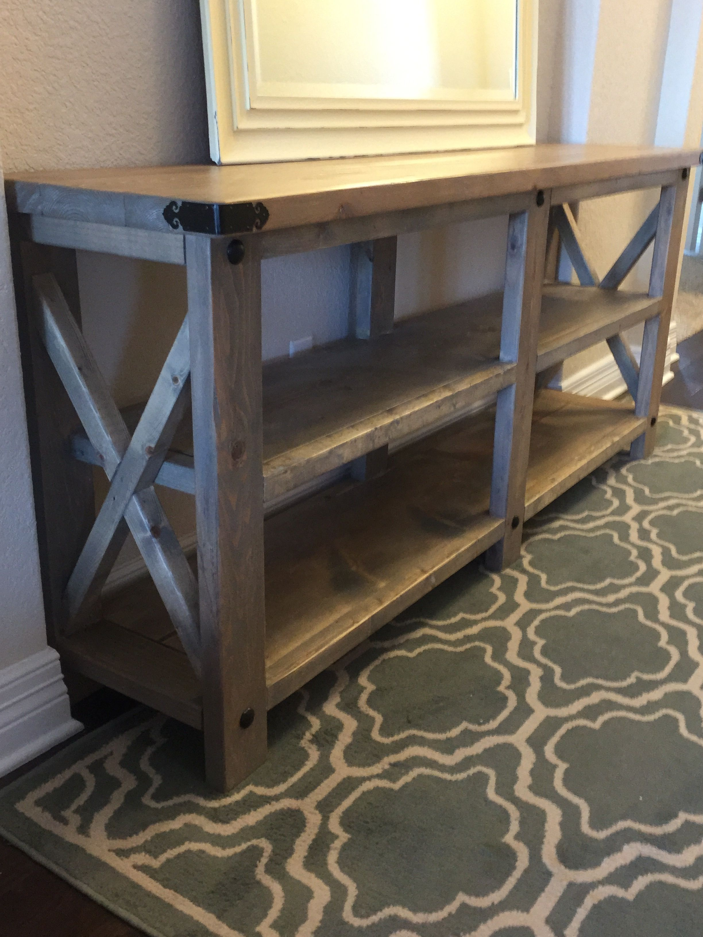 Rustic X Console Do It Yourself Home Projects From Ana