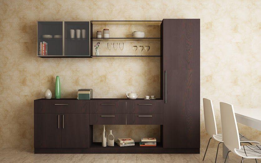 Displaying crockery unit pinterest display for Modern kitchen unit designs