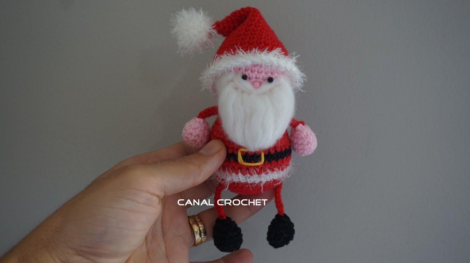 Amigurumis Navideños Patrones Gratis : Canal crochet: papa noel amigurumi patrón libre. amigurumi