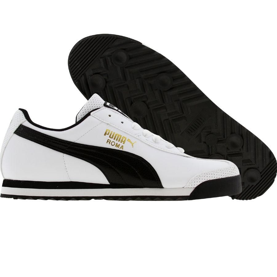puma womens roma cv  white    black  352633-03