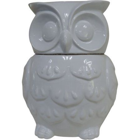 Buy Better Homes And Gardens Owl Cookie Jar Pure White At