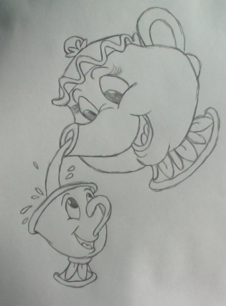 Photo of Mrs Potts and Chip von Sapphir – Drawing – Drawing Blog