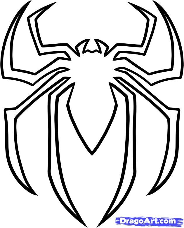 How To Draw The Spiderman Logo Symbol Step 5