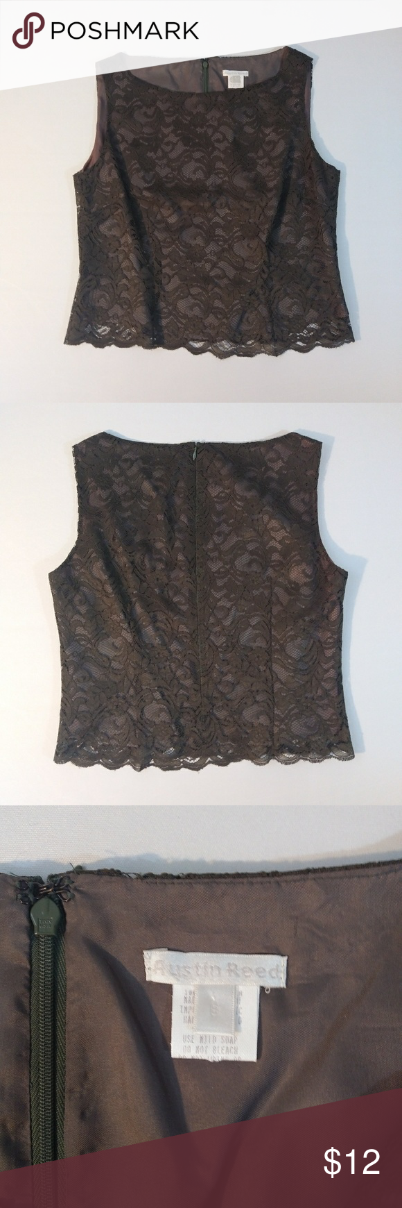 Austin Reed Lace Top Size 8 Lace Top Clothes Design Tops