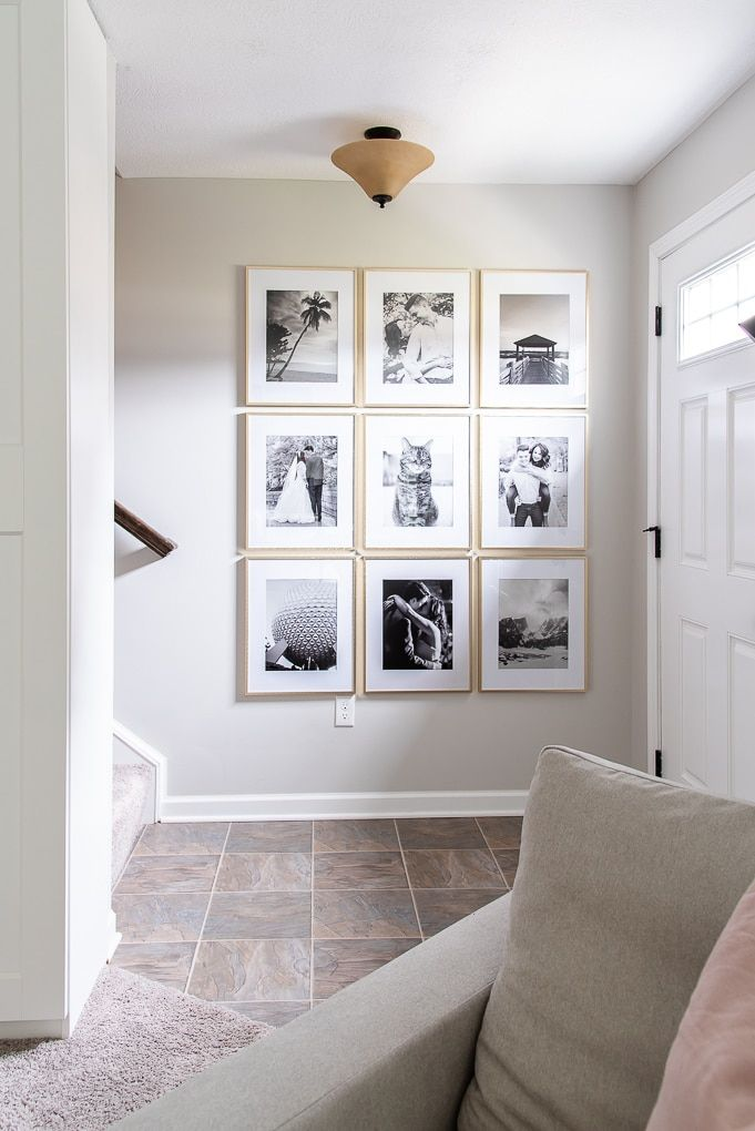 How to Create a Simple Modern Gallery Wall » Christene Holder Home