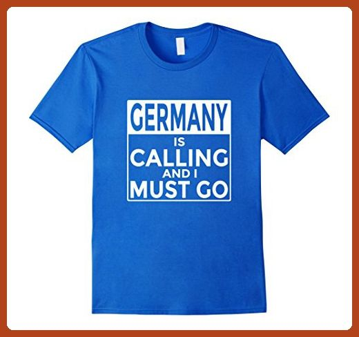 Mens Funny Germany Shirt Germany is Calling and I Must Go 2XL Royal Blue - Funny shirts (*Partner-Link)