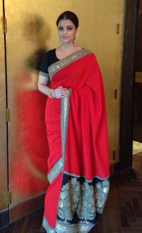 43dedc65cccf73 Aishwarya Rai in a Sabyasachi sari | Desi style, that's how it's ...