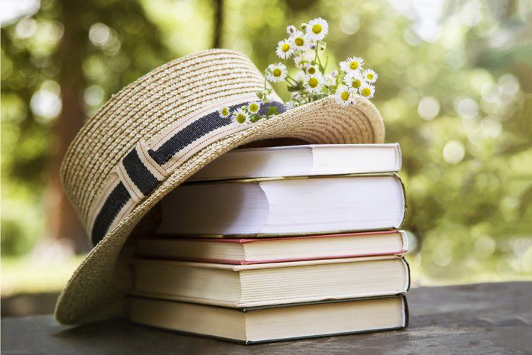 Books In Rustic Style With Hat And Flowers 635460 Arts And Entertainment Design Bundles In 2021 Must Read Novels Book Club Novels