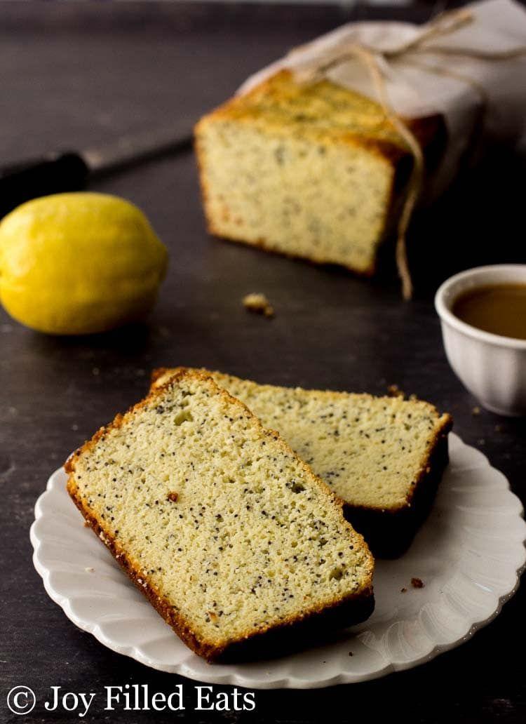 Lemon Poppy Seed Loaf Cake Low Carb Keto Grain Free Gluten