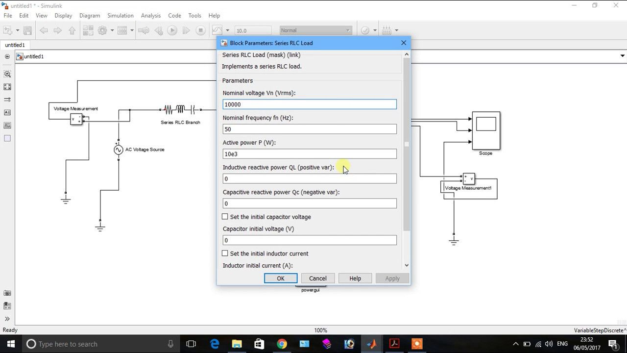 Moduling Of Single Phase Power System In Sim Power Matlab Part 1 Power Coding Implement