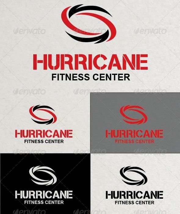 Hurricane Fitness Logo Template | Shops, Fonts and Logos