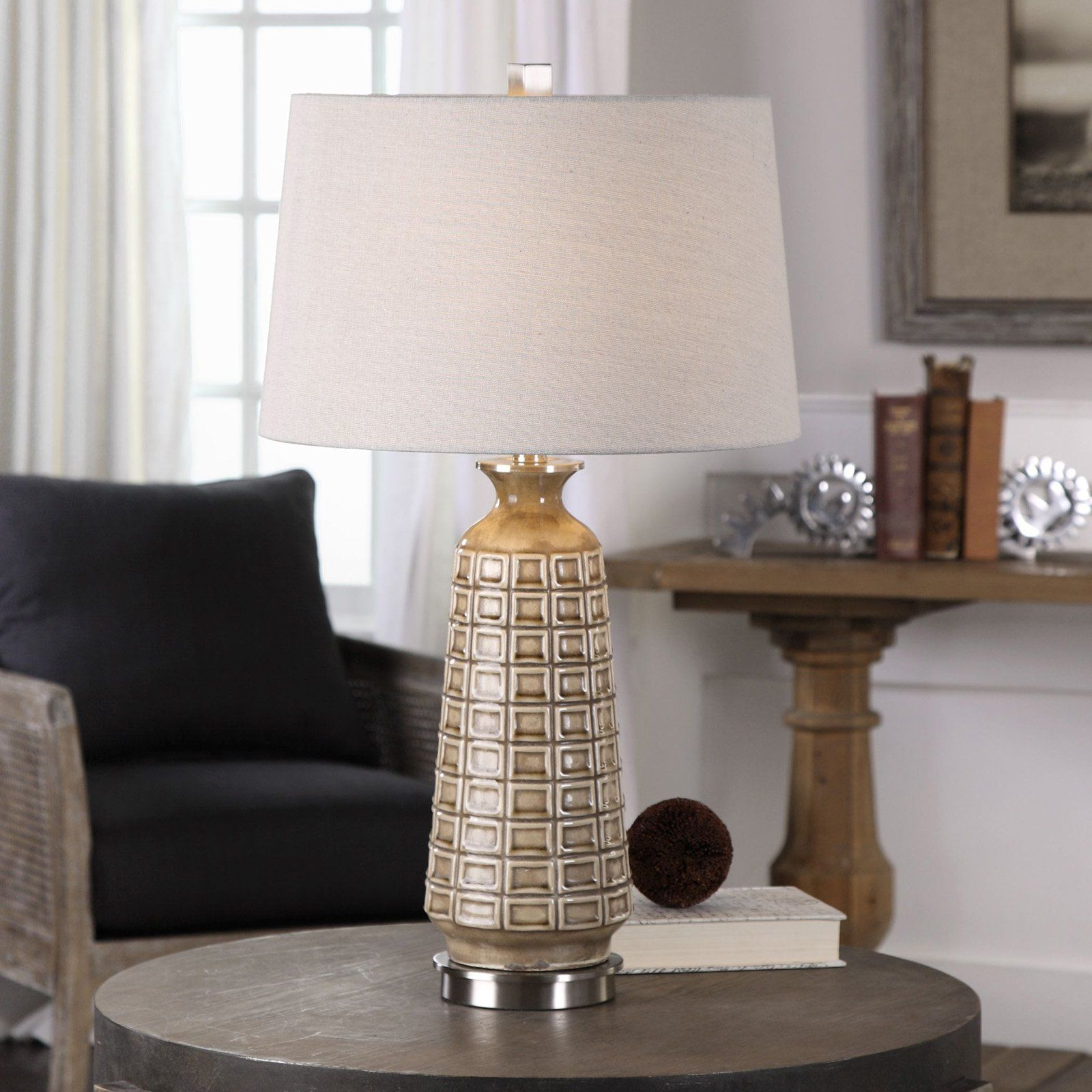 Uttermost Belser Brown Glaze Table Lamp Ceramic Table Lamps