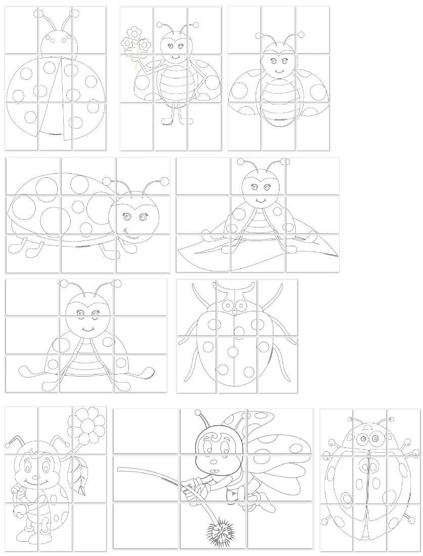 Kolorowanki Xxl Biedronki Do Pobrania I Drukowania Za Darmo Art Word Search Puzzle Diagram