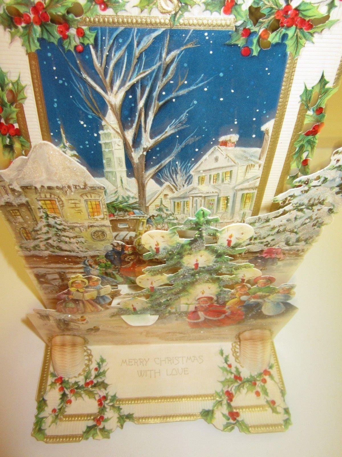 Antique Victorian 3D CHRISTMAS Card Hallmark Made in USA | 09 H~Ch ...