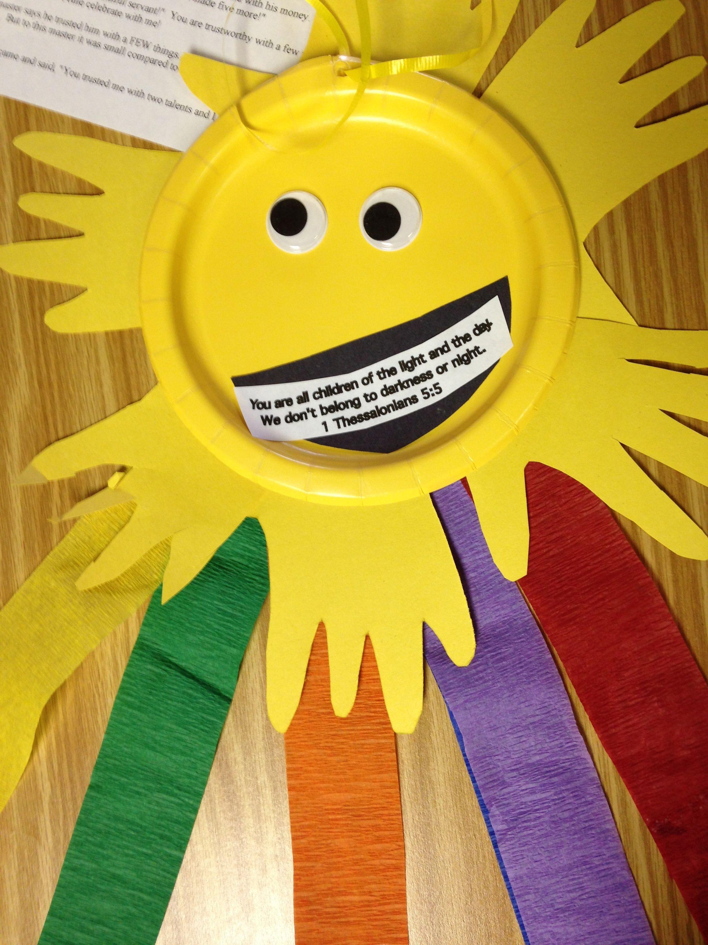 1 thessalonians 5 5 craft sunday crafts pinterest