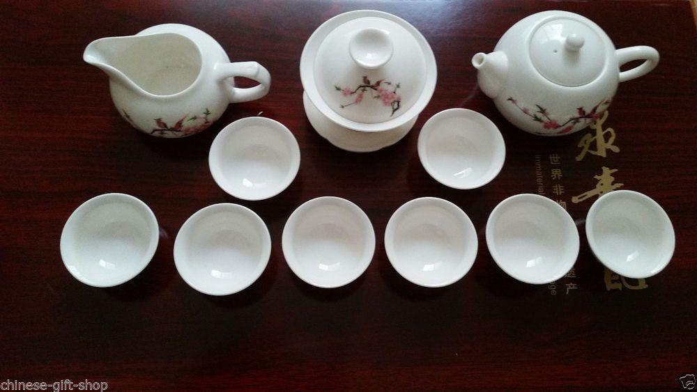 13pcs worthwhile pottery teaset made in China porcelain tea set tea pot tea cup
