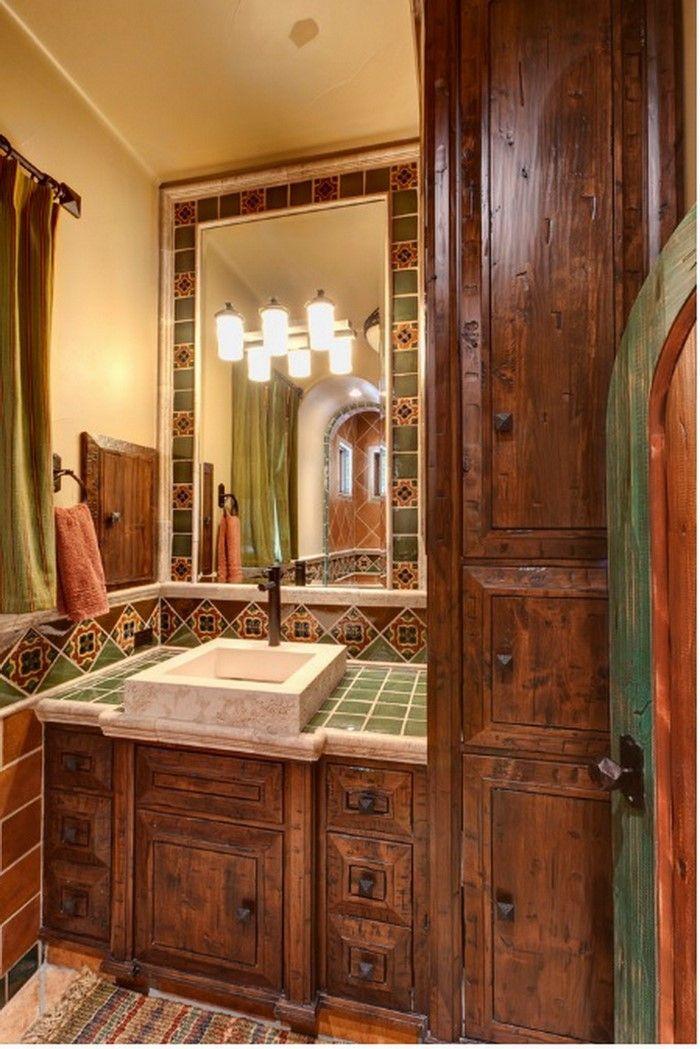 colorful spanish style bathrooms (8) | bathroom | pinterest
