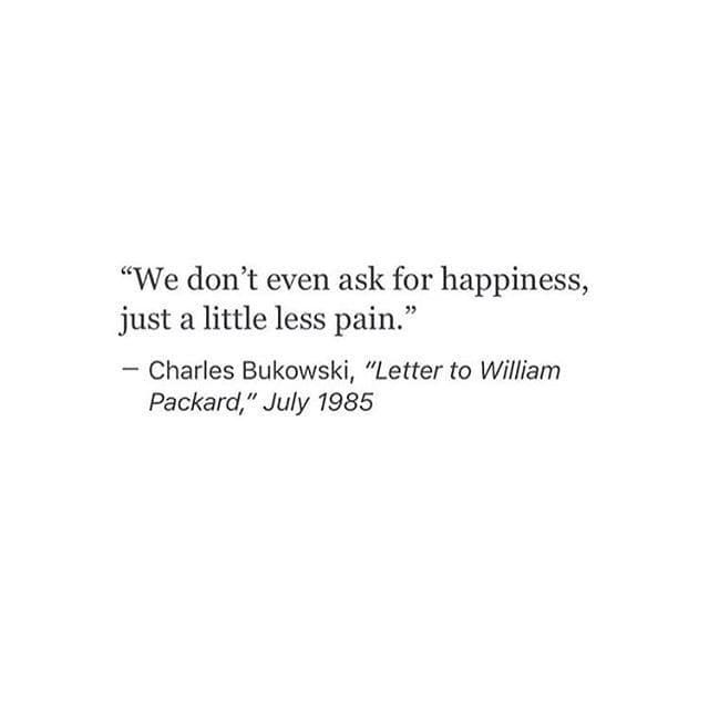 All I ask is less pain in this life. on We Heart It