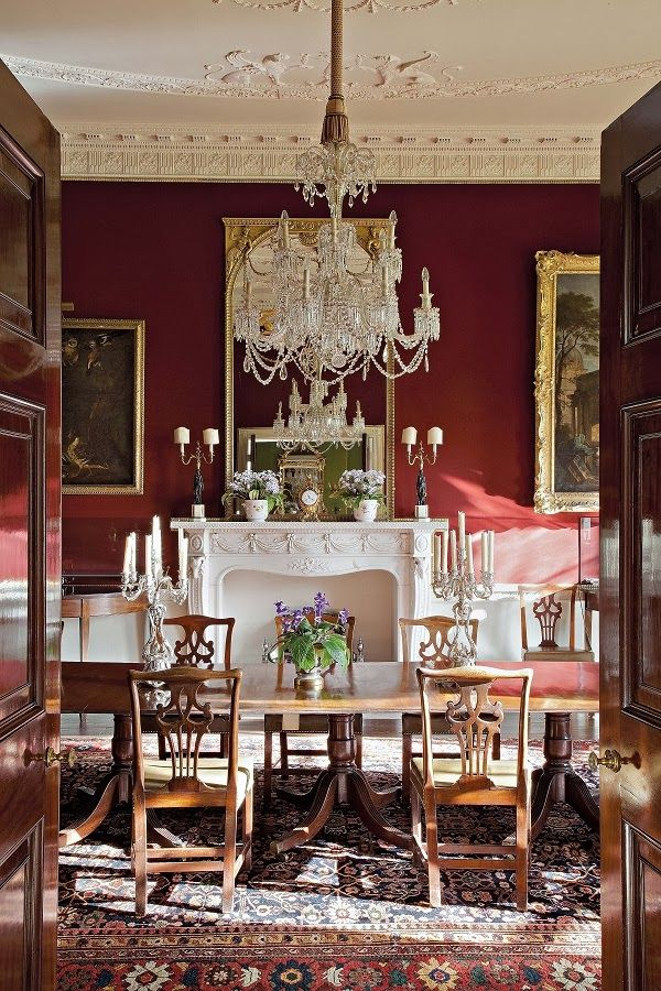 Book Review The English Country House Red Dining Room Dining Room Victorian English Dining Room