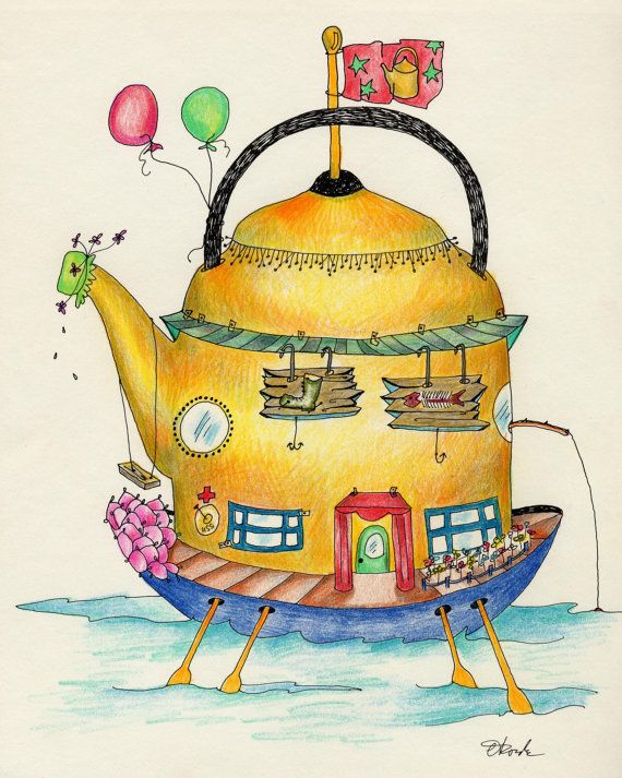 Teapot House by ArtisticCuriosities on Etsy