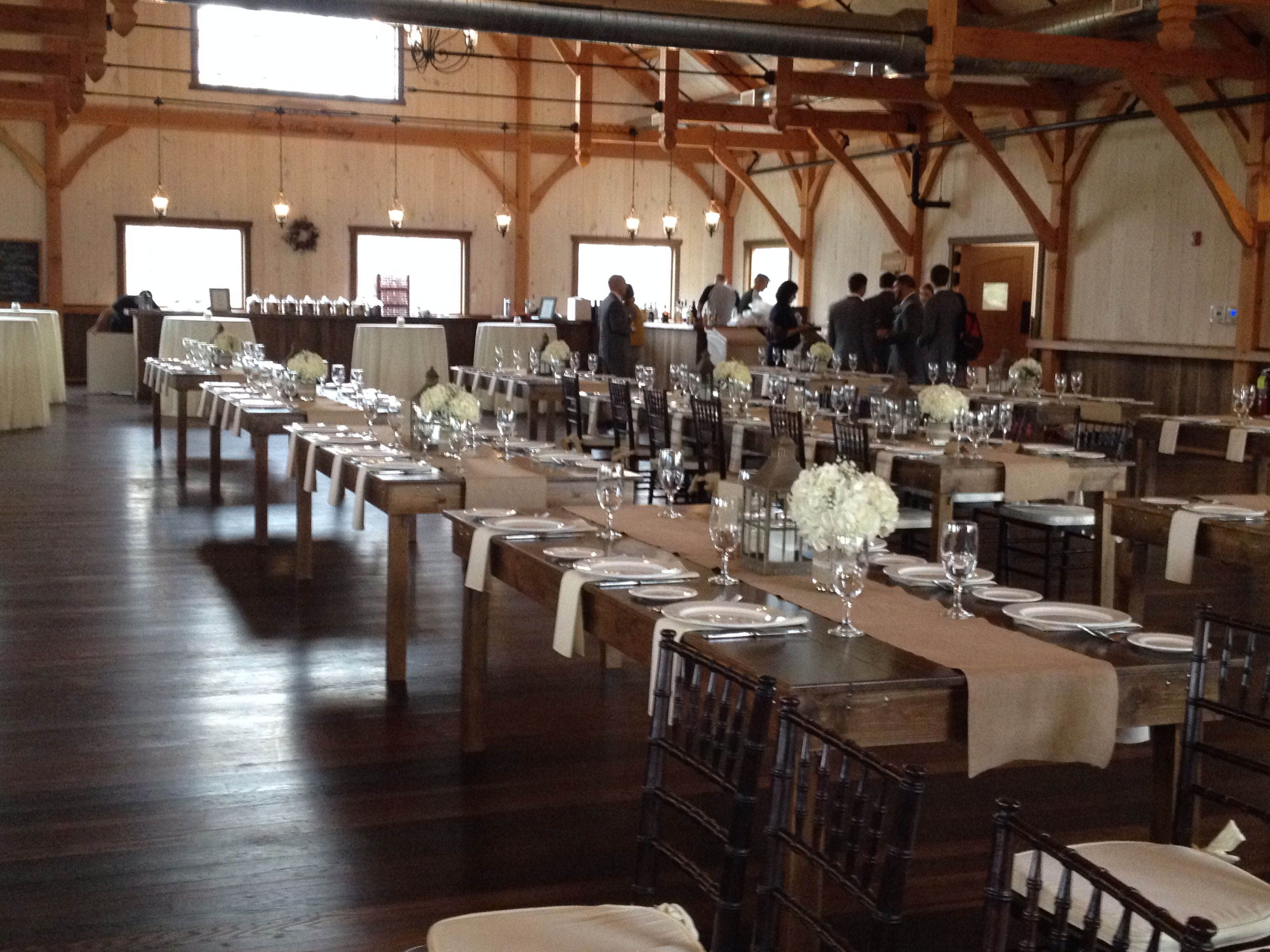 Beautiful Rosebank Winery In Newtown Pa Set Ready For A Gorgeous Farm Table Wedding Our New Darker Farm Table Wedding Wedding Inspiration Board Farm Table