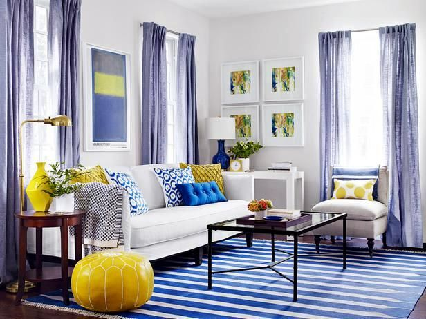A living room-3 Cheap interior design ideas in different colors ...