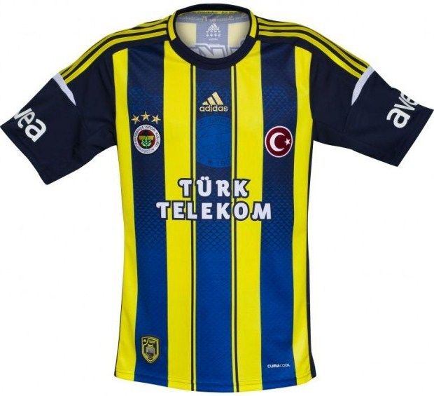13 Football Home Fenerbahce 2012 AdidasSport Kit Shirts Jerseys nv80wNm