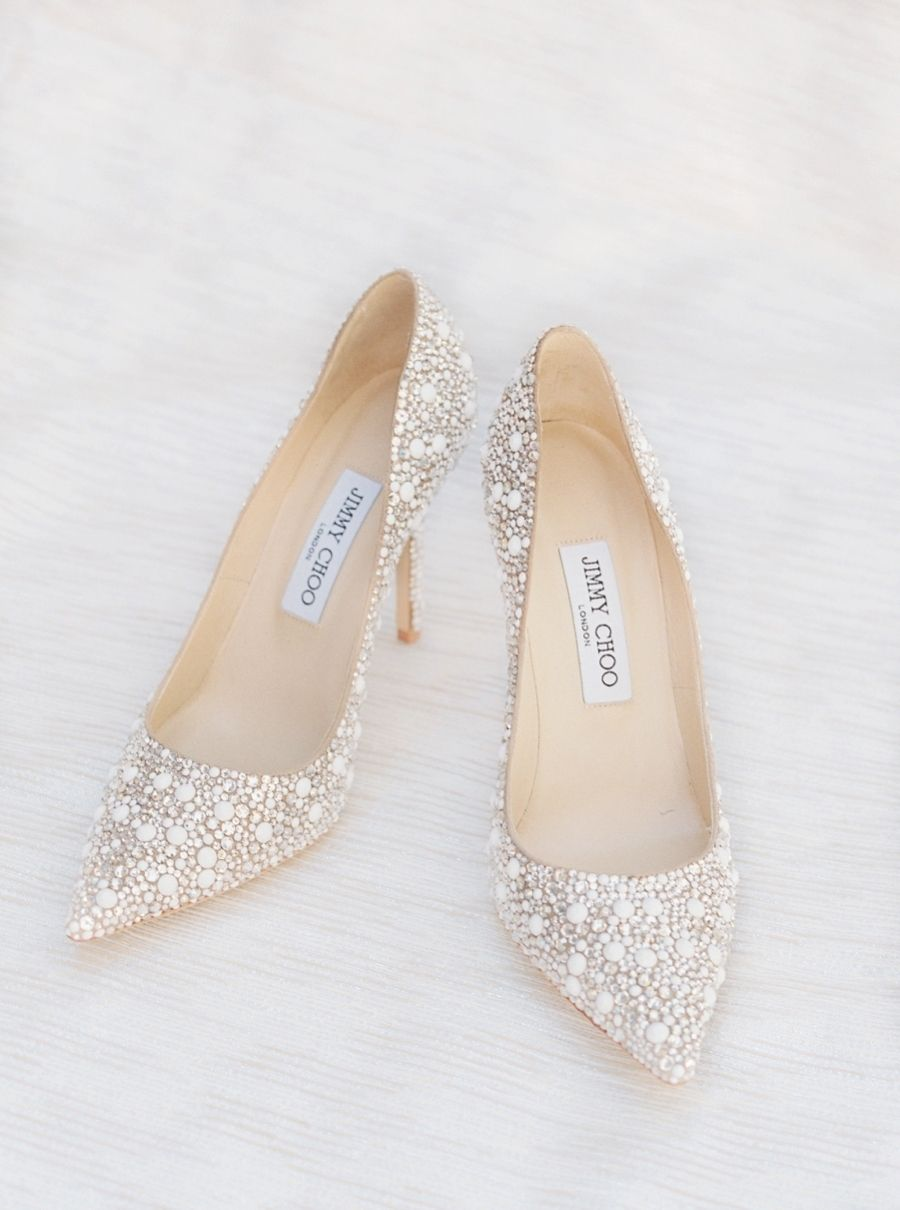 ea711b7e43c0 Chic Jimmy Choo wedding shoes. Photography   Simply Sarah Photography Read  More on SMP