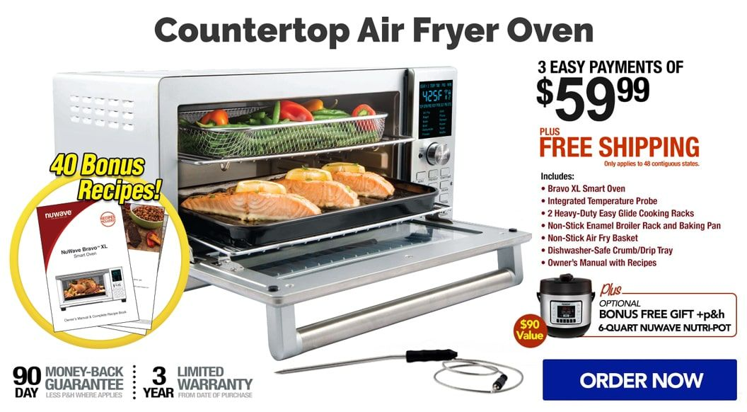 Nuwave Bravo Xl Air Fryer Oven The Countertop Home Oven Smart