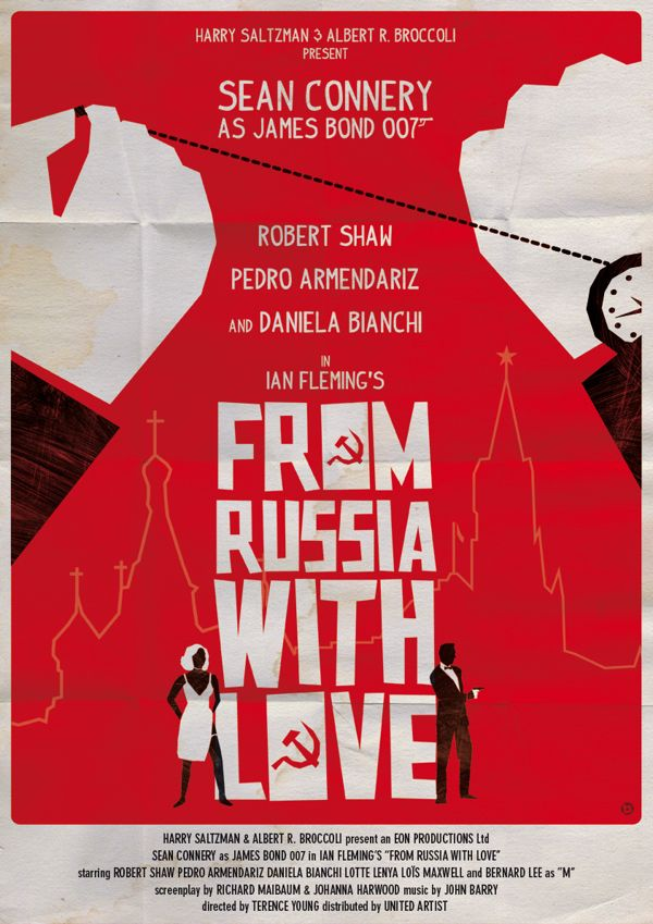From Russia With Love 1963 James Bond Movie Poster Https Www