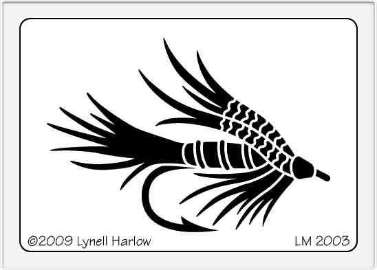 Stencil Lm Fishing Fly - Scrapbook City, BC Canada - (Powered by ... : quilting stencils canada - Adamdwight.com