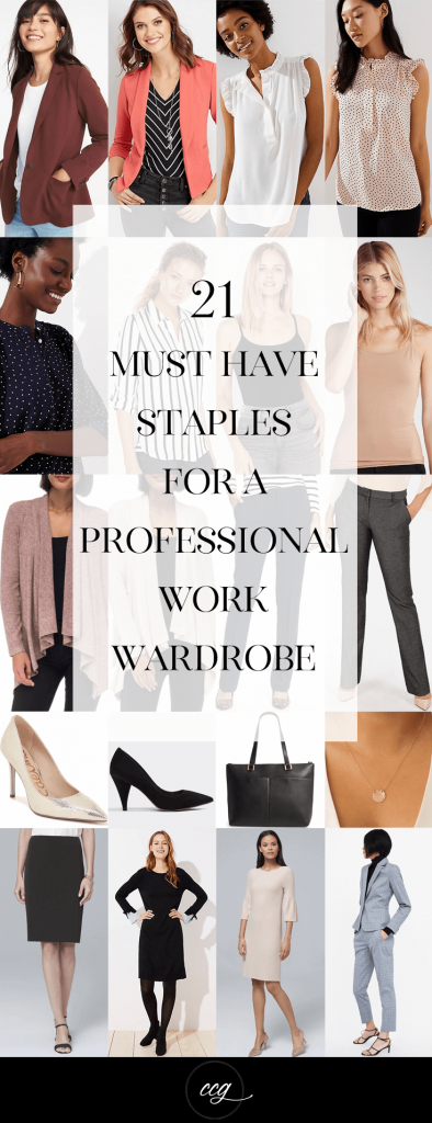 21 Must Have Staples For a Professional Wardrobe #workwardrobe