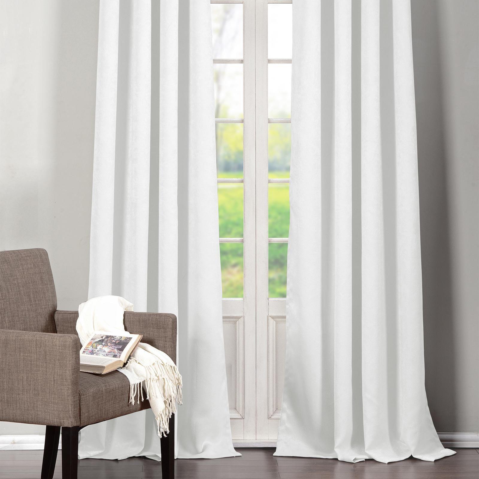 Awesome White Window Treatment Ideas