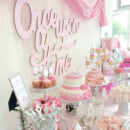 Super cute princess once upon a time baby shower theme for Baby shower decoration free