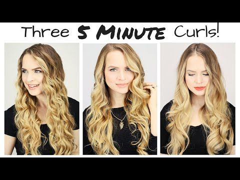This Will Actually Teach You How To Curl Your Hair In 5 Minutes Curls For Long Hair Hair Styles Easy Curls