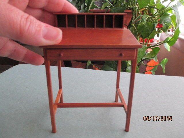 Elegant Dollhouse Miniatures Handmade Shaker Cherry Desk By Igma Artisan George  Pennell