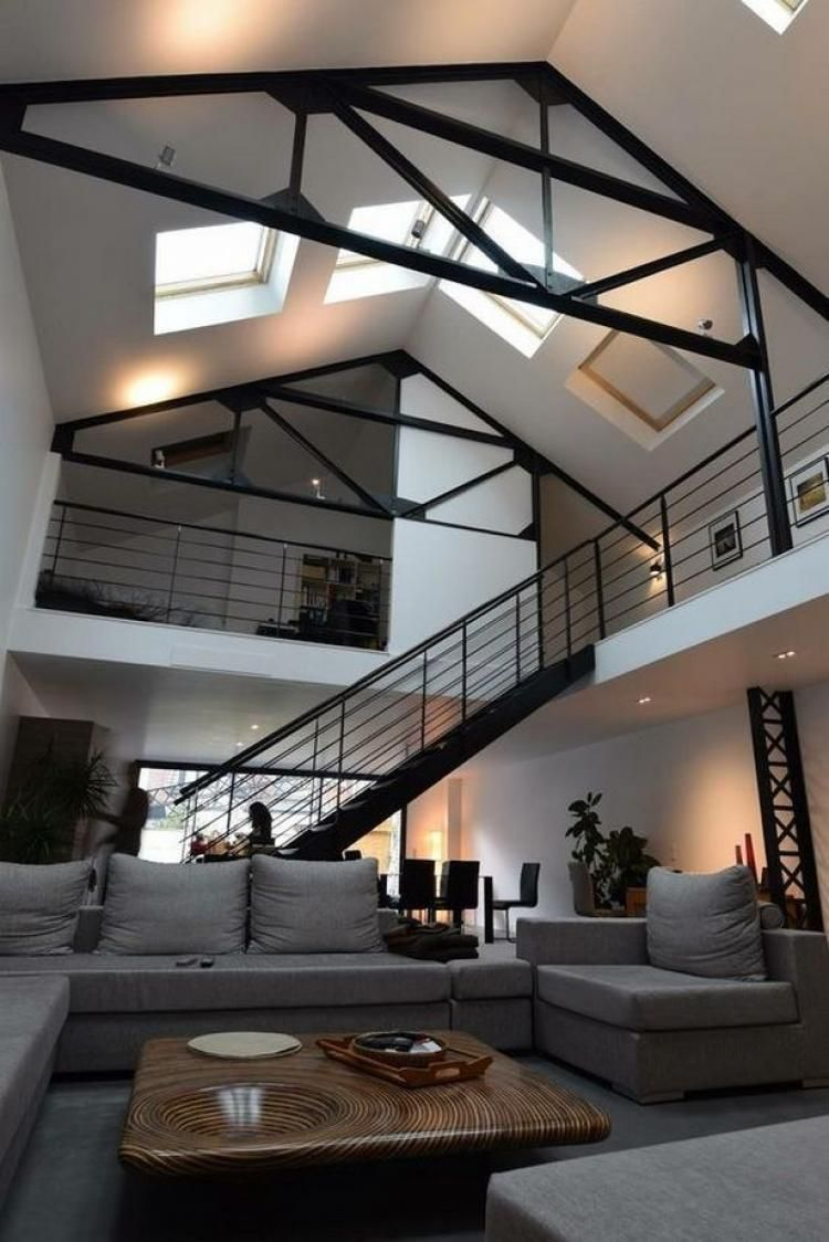 amazing garage living room | 48+ Amazing Loft Living Room Ideas #livingroom # ...