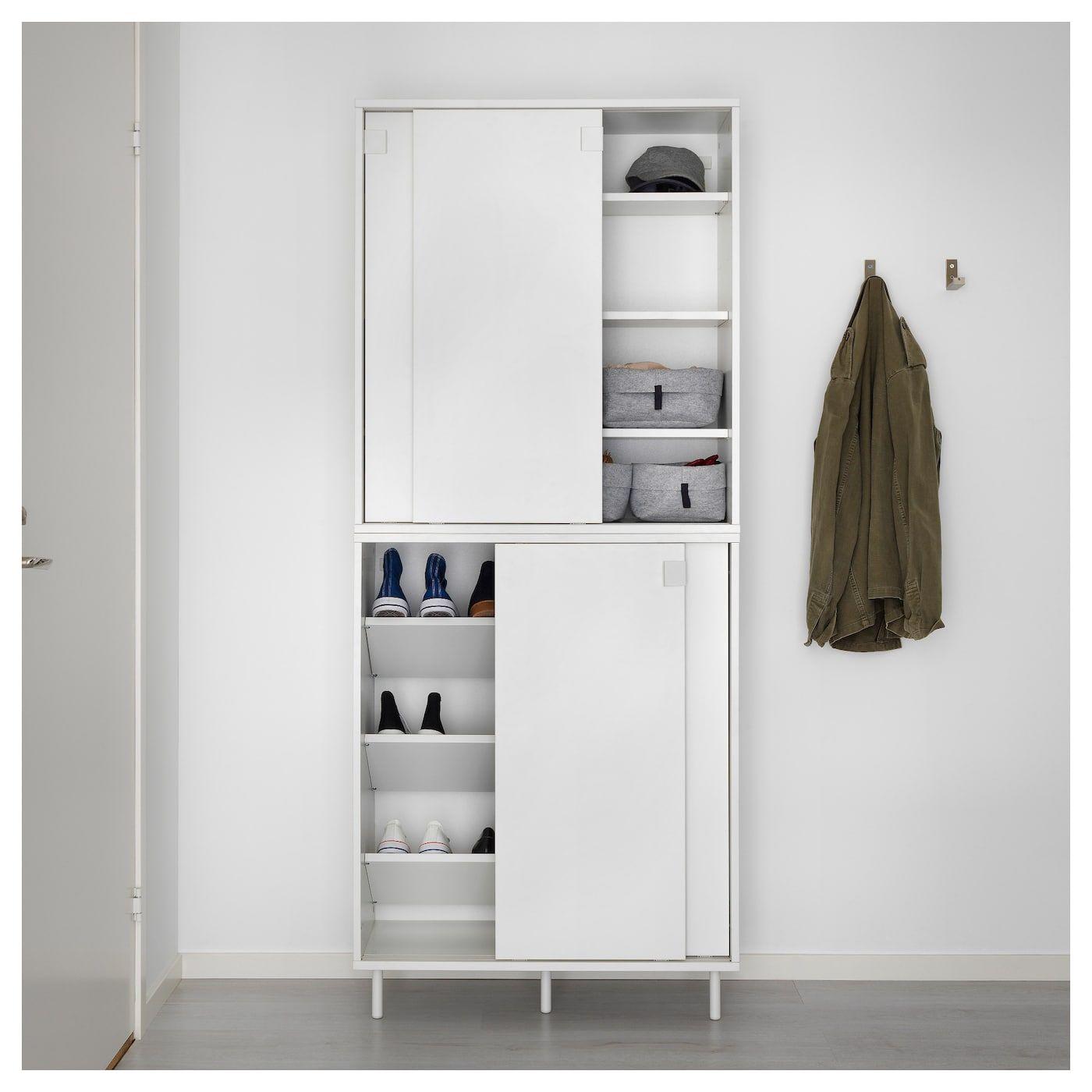 Mackapar Shoe Storage Cabinet White 31 1 2x40 1 8 Shoe