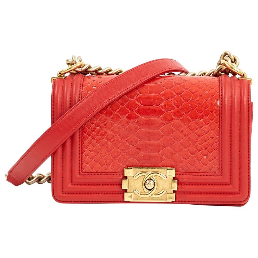 ce1a53337147 Boy python handbag in 2019 | RED | Chanel handbags, Handbags, Python
