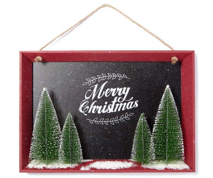 Chalkboard Christmas Tree Wall Décor at Big Lots christmas - christmas clearance decor