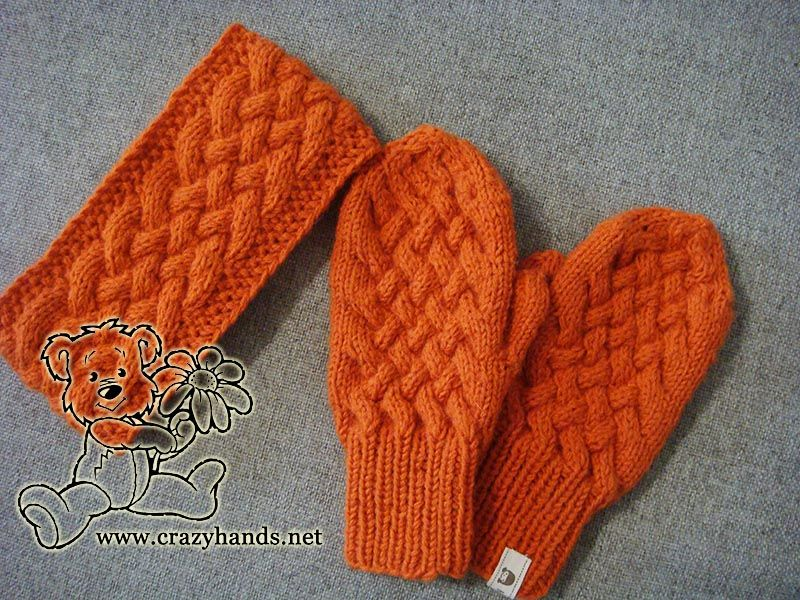 This Cute Knitted Mitten Patterns Is The Second Part Of Wicker