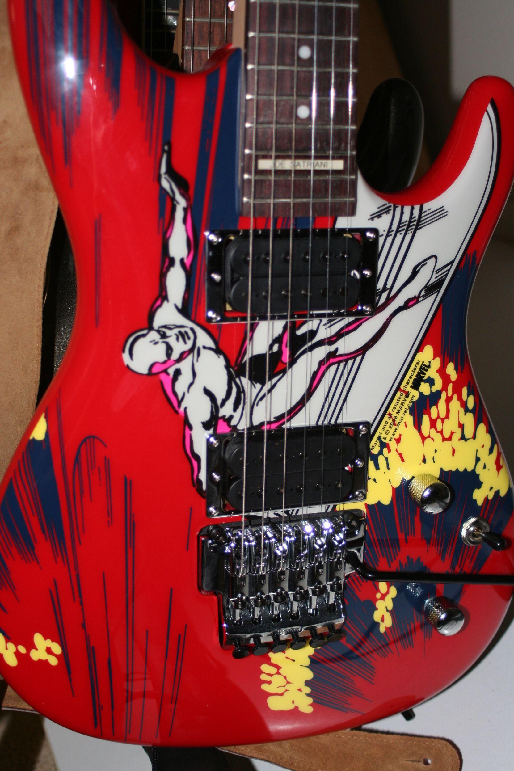 My 2009 Ibanez Joe Satriani Silver Surfer guitar
