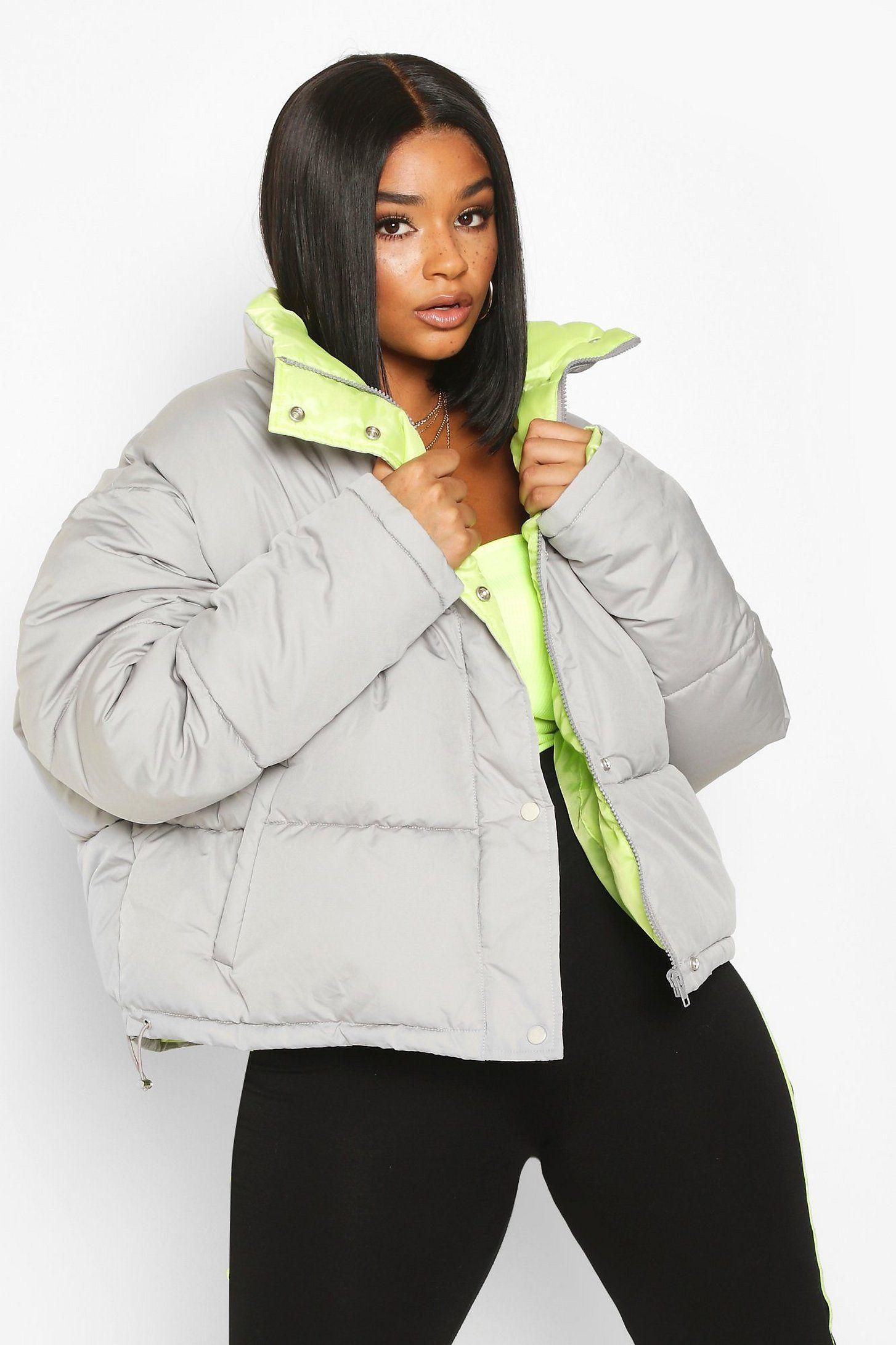 Women S Plus Neon Lined Cropped Puffer Jacket Boohoo Uk Boohoo Jacket Cropped Puffer Jacket Mustard Puffer Jacket [ 2182 x 1454 Pixel ]