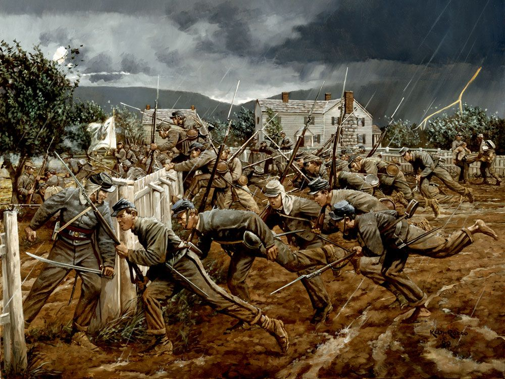 American Civil War Painting by James Edwin McConnell |American Civil War Battle Paintings