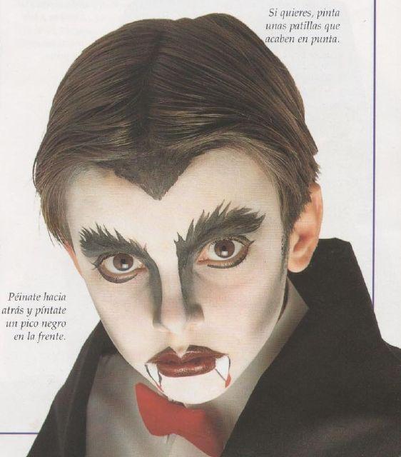 dracula disfraz maquillaje
