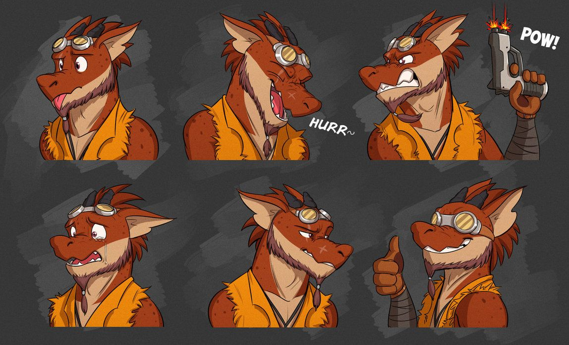 Photo of Commission: Delmi's Expression Sheet by Temiree on DeviantArt