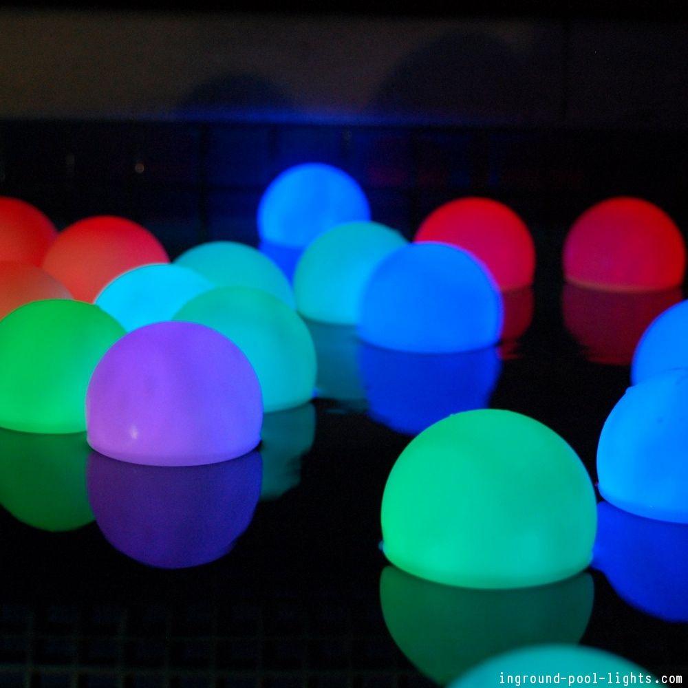 Swimming Pool Lighting Ideas | Pools | Floating pool lights ...
